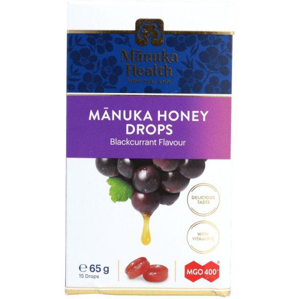 Manuka cukorka 400+ manukával, feketeribizlis 65g (Manuka Health's)