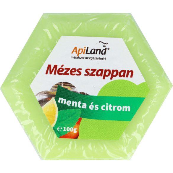 Mézes mentás és citromos szappan 100g (Apiland)