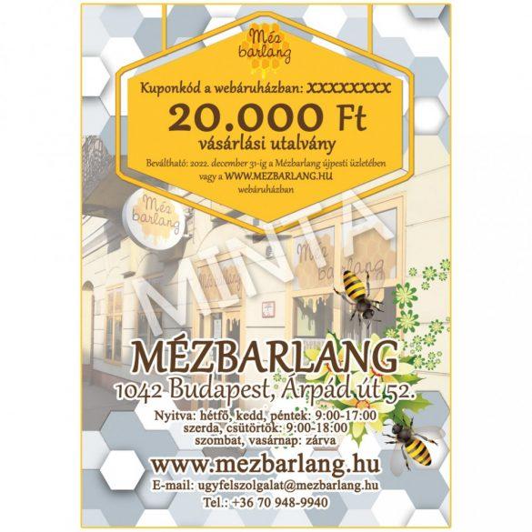 Mézbarlang vásárlási utalvány, 20.000 Ft-os, digitális