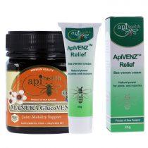 Manuka Glucovenz és Apivenz méhmérges krém csomag (Apihealth)