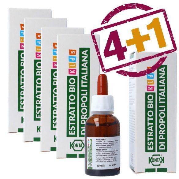 Propolisz tinktúra, alkoholmentes 30ml - 4+1 db ajándék