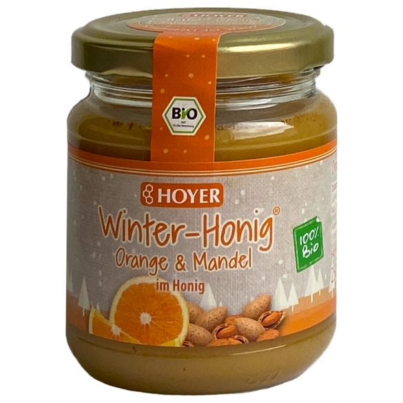 Narancsos-mandulás ,,Téli mézkülönlegesség'' , BIO, 250g (Hoyer)