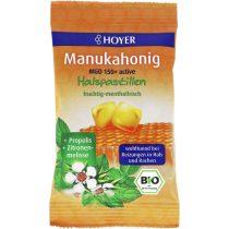 Bio MGO150+ Manukamézes torokpasztilla, citromfűvel és propolisszal - 30g (Hoyer)