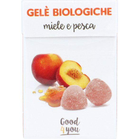 Bio mézes-barackos zselés cukorka 30g (Kontak)