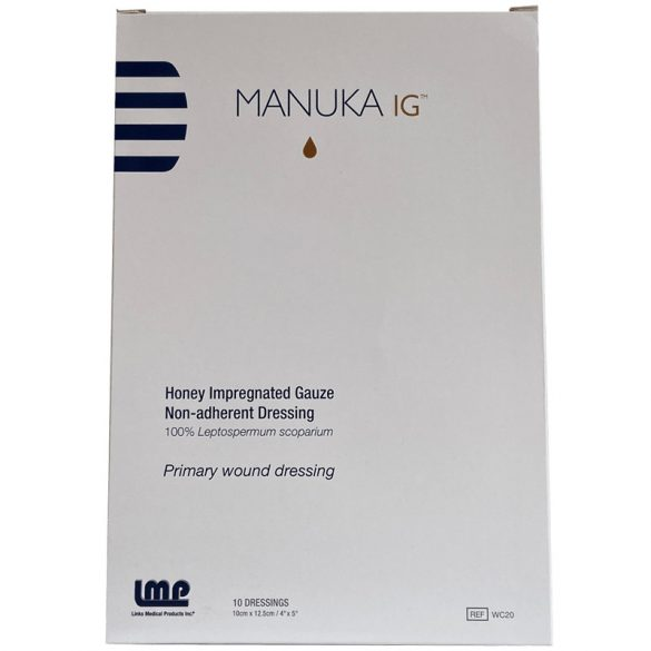 Manuka mézes IG impregnált géz - 1db -10cm x 12,5cm (LMP)