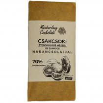 Csakcsoki étcsokoládé mézzel és narancsolajjal 70g (Mézbarlang)