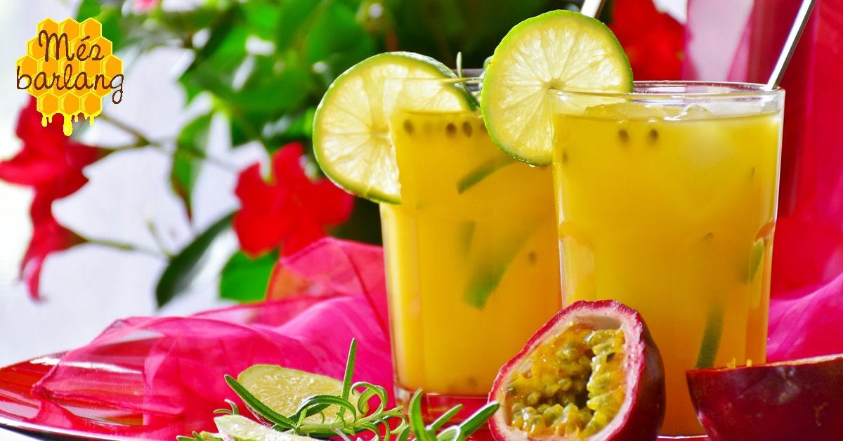 Mézes alkoholmentes koktélok